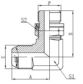BSP O-rengas Säädettävä Stud-piirustus