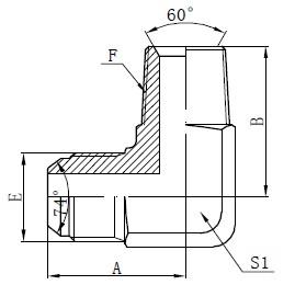 BSPT-urosadapteriliittimet Piirustus