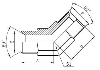Teollisuuden putkiliittimet Piirustus