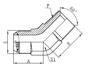 JIS GAS Elbow Connectors Piirustus