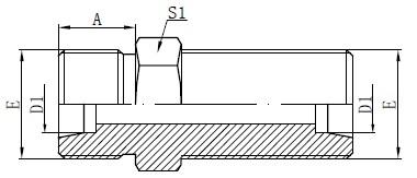 Metriset laippaliittimet Piirustus