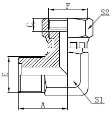 Metriset uros O-rengasliitokset Piirustus