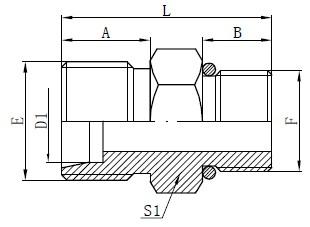 SAE O-rengasletkujen liittimet Piirustus