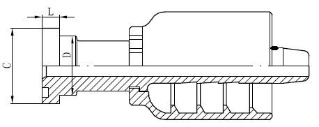 SS-putkiliittimen piirustus